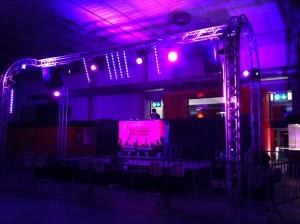 Svizzera fornitura impianto audio e luci per Dj set.