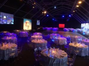 Cena di Gala service audio video e luci per evento aziendale