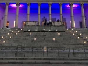 Noleggio service luci per evento arena civica milano